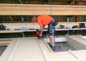 Ausbildung Zimmerer Fertigung Holzwand